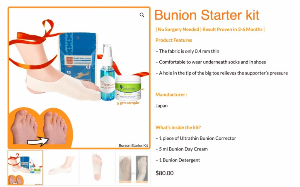 Image of Bunion starter kit available on feetcare.sg