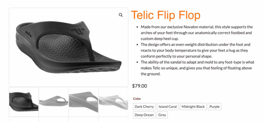 Image of Telic flip flop available on feetcare.sg