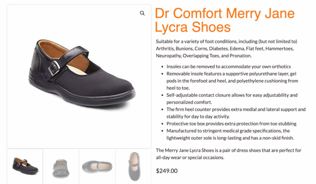 Image of Dr Comfort shoes and insoles available on feetcare.sg